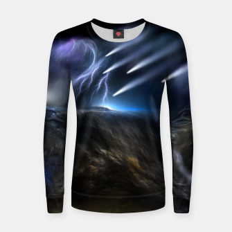 Thumbnail image of Meteors Fractal Art Woman cotton sweater, Live Heroes