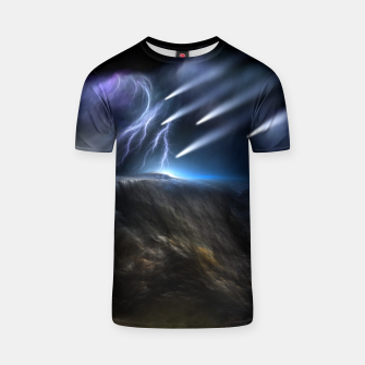 Thumbnail image of Meteors Fractal Art T-shirt, Live Heroes