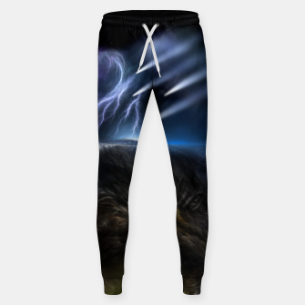 Thumbnail image of Meteors Fractal Art Cotton sweatpants, Live Heroes