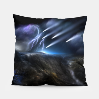 Thumbnail image of Meteors Fractal Art Pillow, Live Heroes