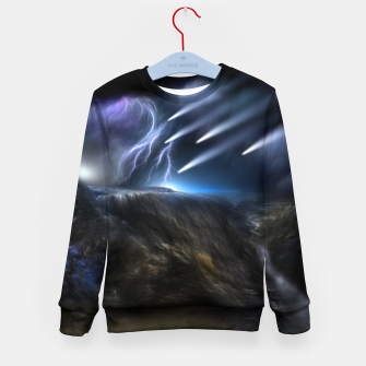 Thumbnail image of Meteors Fractal Art Kid's sweater, Live Heroes