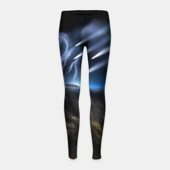 Thumbnail image of Meteors Fractal Art Girl's leggings, Live Heroes