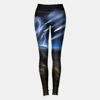 Thumbnail image of Meteors Fractal Art Leggings, Live Heroes