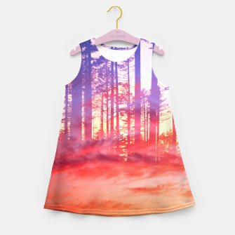 Miniature de image de Artistic CVI - Dreamy Clouds Forest Girl's summer dress, Live Heroes
