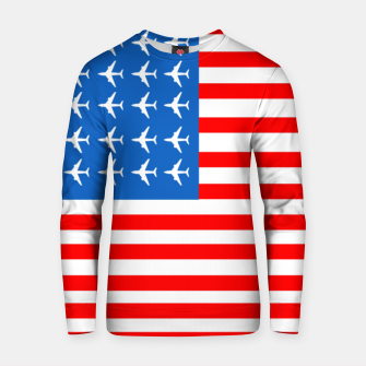 Thumbnail image of USA Airplane Flag Cotton sweater, Live Heroes