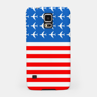 Thumbnail image of USA Airplane Flag Samsung Case, Live Heroes