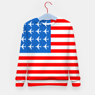 Thumbnail image of USA Airplane Flag Kid's sweater, Live Heroes