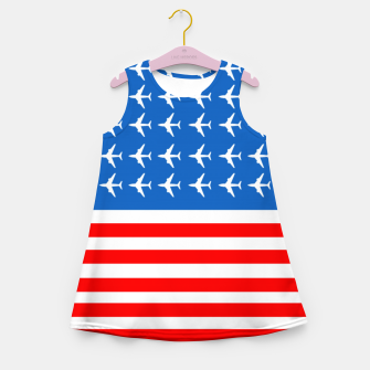 Thumbnail image of USA Airplane Flag Girl's summer dress, Live Heroes