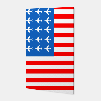 Thumbnail image of USA Airplane Flag Canvas, Live Heroes