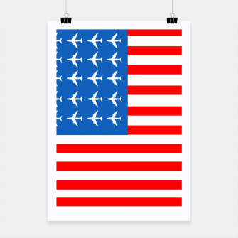 Thumbnail image of USA Airplane Flag Poster, Live Heroes