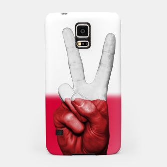 Miniaturka Poland Fingers Flag Samsung Case, Live Heroes