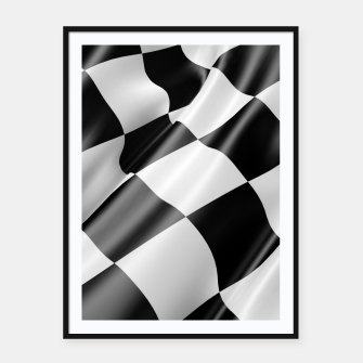 Thumbnail image of Formula Rally Flag Framed poster, Live Heroes