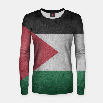 Thumbnail image of Vintage Grunge Palestine Flag Woman cotton sweater, Live Heroes