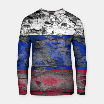 Thumbnail image of Grunge Vintage Ripped Russia Flag Cotton sweater, Live Heroes