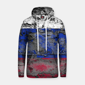 Thumbnail image of Grunge Vintage Ripped Russia Flag Cotton hoodie, Live Heroes