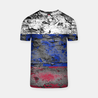 Thumbnail image of Grunge Vintage Ripped Russia Flag T-shirt, Live Heroes