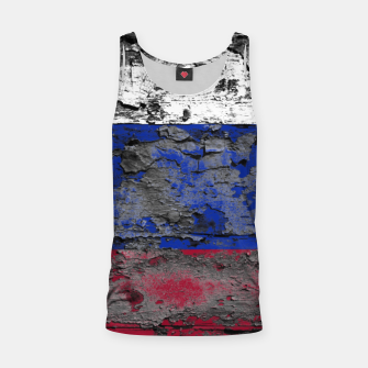 Thumbnail image of Grunge Vintage Ripped Russia Flag Tank Top, Live Heroes