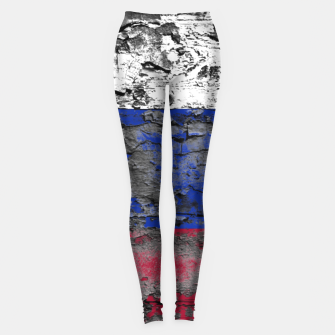 Thumbnail image of Grunge Vintage Ripped Russia Flag Leggings, Live Heroes