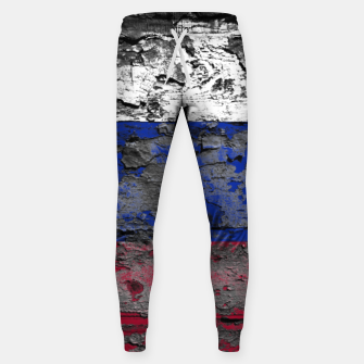 Thumbnail image of Grunge Vintage Ripped Russia Flag Cotton sweatpants, Live Heroes