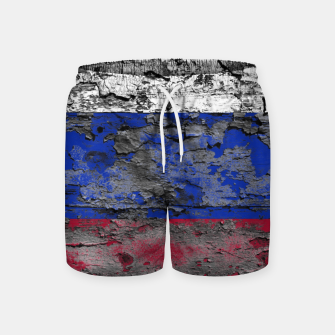 Thumbnail image of Grunge Vintage Ripped Russia Flag Swim Shorts, Live Heroes