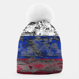 Thumbnail image of Grunge Vintage Ripped Russia Flag Beanie, Live Heroes
