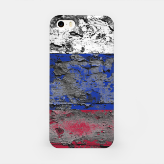 Thumbnail image of Grunge Vintage Ripped Russia Flag iPhone Case, Live Heroes