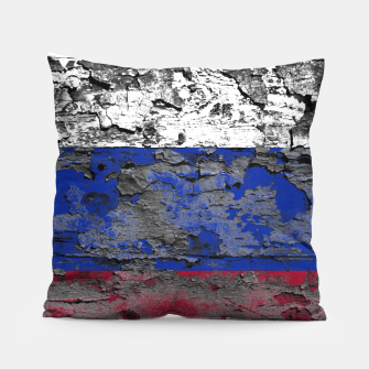 Thumbnail image of Grunge Vintage Ripped Russia Flag Pillow, Live Heroes