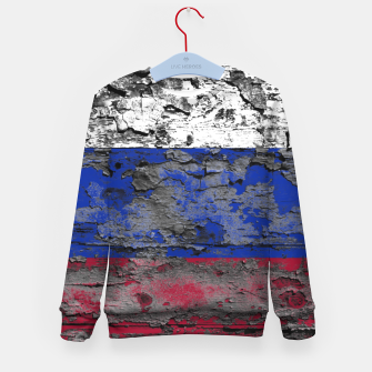 Thumbnail image of Grunge Vintage Ripped Russia Flag Kid's sweater, Live Heroes