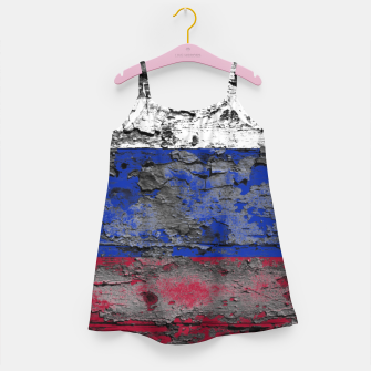 Thumbnail image of Grunge Vintage Ripped Russia Flag Girl's dress, Live Heroes