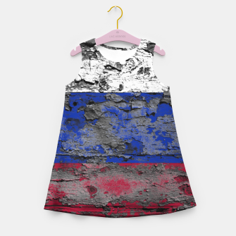 Thumbnail image of Grunge Vintage Ripped Russia Flag Girl's summer dress, Live Heroes