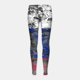 Thumbnail image of Grunge Vintage Ripped Russia Flag Girl's leggings, Live Heroes