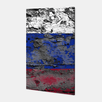 Thumbnail image of Grunge Vintage Ripped Russia Flag Canvas, Live Heroes