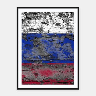 Thumbnail image of Grunge Vintage Ripped Russia Flag Framed poster, Live Heroes