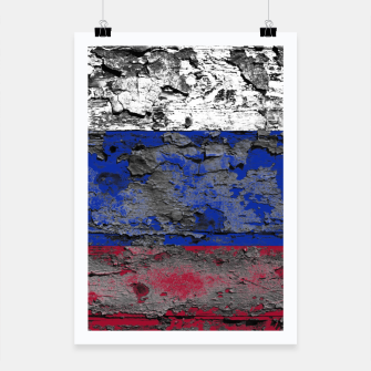 Thumbnail image of Grunge Vintage Ripped Russia Flag Poster, Live Heroes