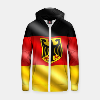 Thumbnail image of Waving Germany Flag Cotton zip up hoodie, Live Heroes