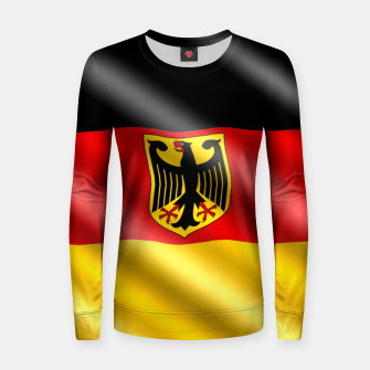 Thumbnail image of Waving Germany Flag Woman cotton sweater, Live Heroes