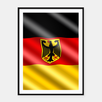 Thumbnail image of Waving Germany Flag Framed poster, Live Heroes