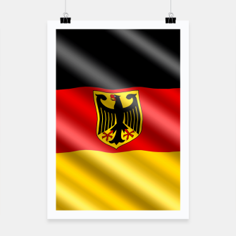 Thumbnail image of Waving Germany Flag Poster, Live Heroes