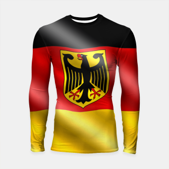 Thumbnail image of Waving Germany Flag Longsleeve rashguard , Live Heroes