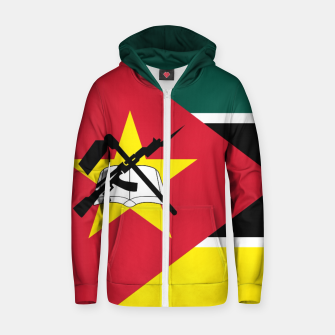 Thumbnail image of Basic Mozambique Flag Cotton zip up hoodie, Live Heroes