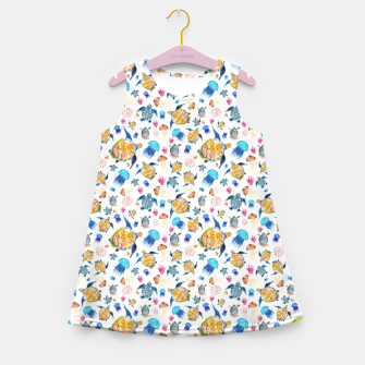 Miniature de image de Ocean Life Girl's summer dress, Live Heroes