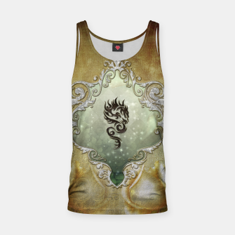 Thumbnail image of Wonderful tribal dragon on vintage background Tank Top, Live Heroes