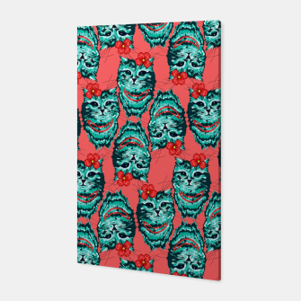 Miniatur Cats Pattern Canvas, Live Heroes