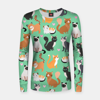 Miniatur Cats Cats Cats Woman cotton sweater, Live Heroes