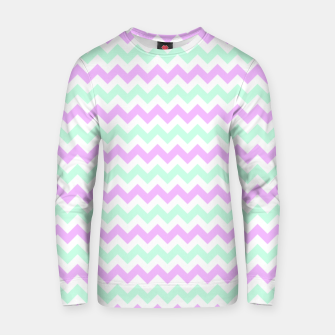 Thumbnail image of Purple Mint Chevron Cotton sweater, Live Heroes