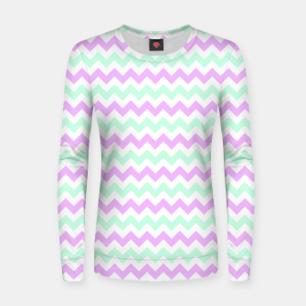 Thumbnail image of Purple Mint Chevron Woman cotton sweater, Live Heroes