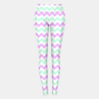Imagen en miniatura de Purple Mint Chevron Leggings, Live Heroes