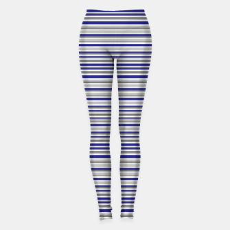 Imagen en miniatura de Dark Blue Gray Stripes Leggings, Live Heroes