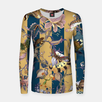 Thumbnail image of Frogs and Bugs Woman cotton sweater, Live Heroes