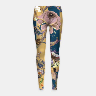 Thumbnail image of Frogs and Bugs Girl's leggings, Live Heroes